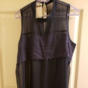 Sheer blouse/ tank New with tags XL